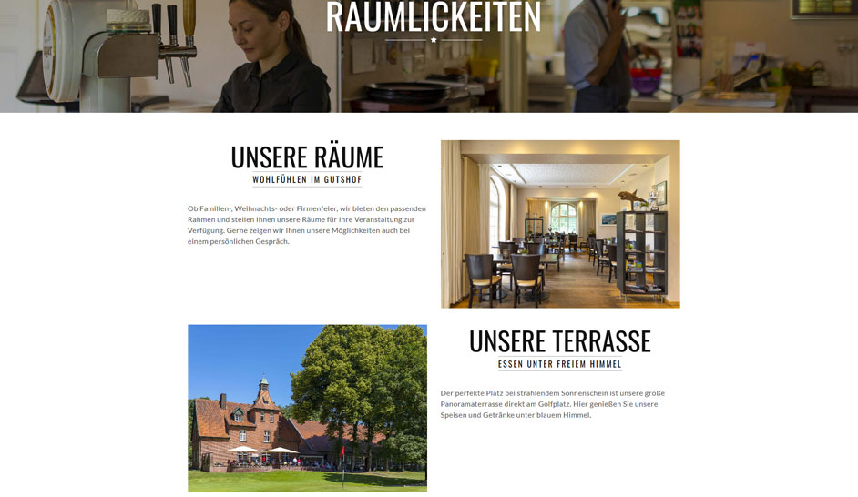 Gutshof Papenburg Website