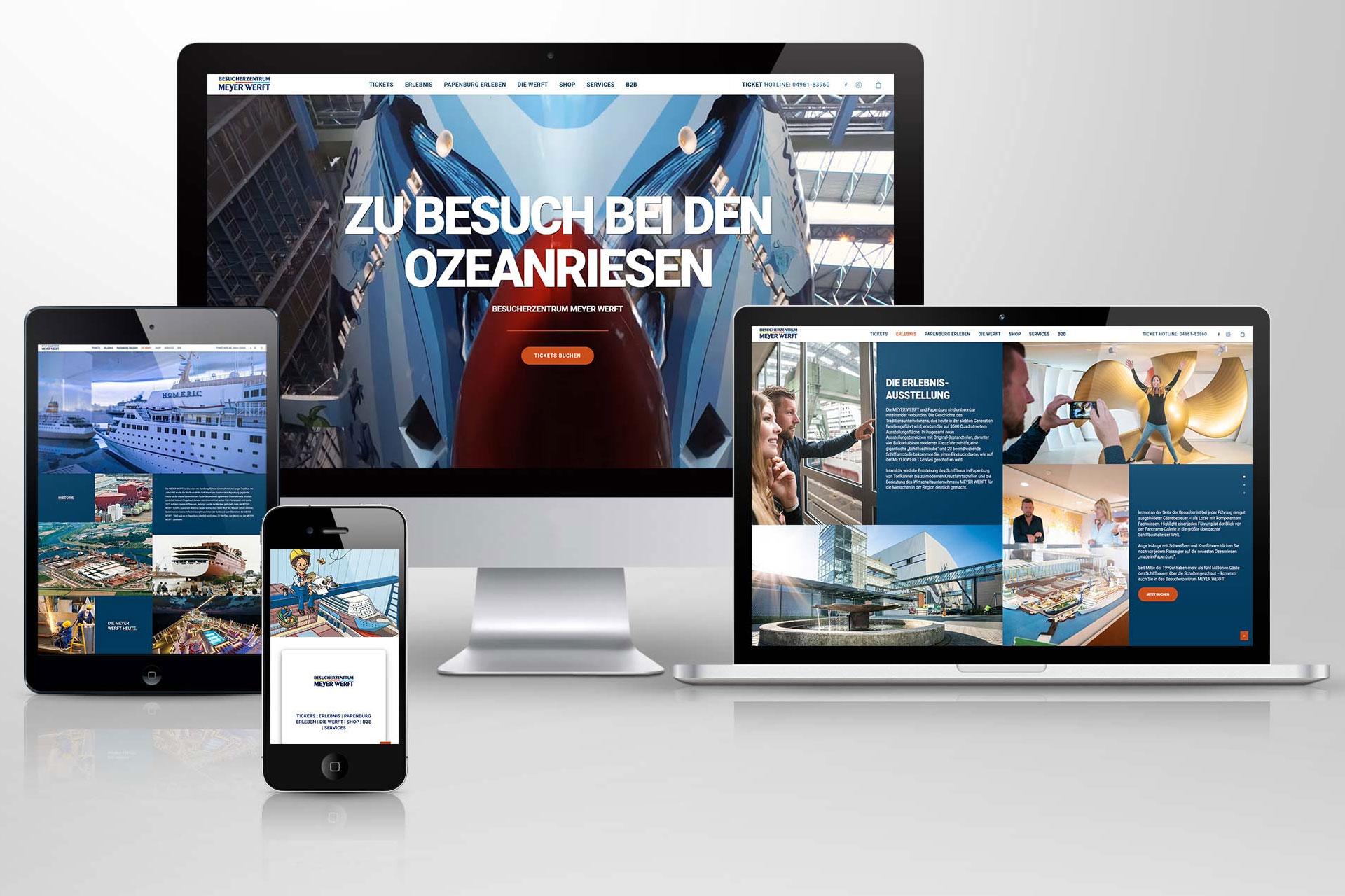 Besucherzentrum Meyer Werft Webseite